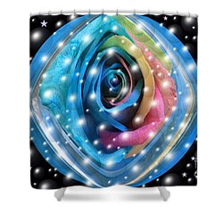 Rose Planet Shower Curtain