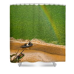 Shower Curtain featuring the photograph Rainbow Rain by Kim Wilson