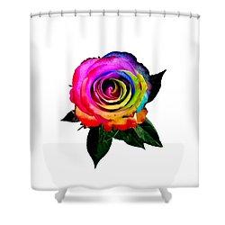 Shower Curtain featuring the photograph Rainbow Rose  by Jennah Lenae