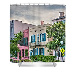 Rainbow Row II Shower Curtain