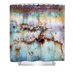 Rainbow Rust Shower Curtain by Karen Stahlros