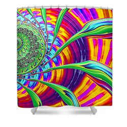 Shower Curtain featuring the photograph Rainbow Sun by Ronda Broatch
