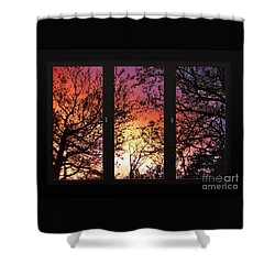 Rainbow Sunset Through Your Window Shower Curtain
