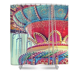 Shower Curtain featuring the photograph Rainbow Swings by Melanie Alexandra Price
