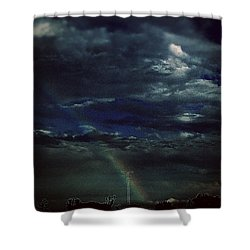 Rainbow Through The Storm  Shower Curtain by Frank J Casella