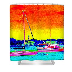 Rainbow Tide Shower Curtain