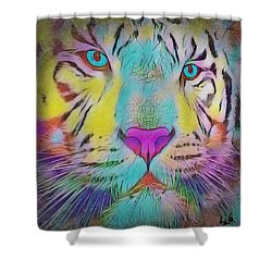 Rainbow Tiger Shower Curtain