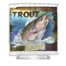 Rainbow Trout Shower Curtain