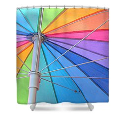 Rainbow Umbrella Shower Curtain