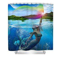 Rainbow Wave Shower Curtain