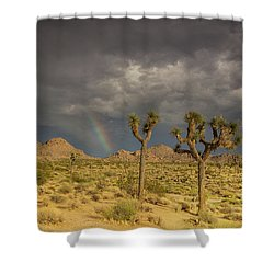 Rainbows Thunderstorms And Sunsets Shower Curtain