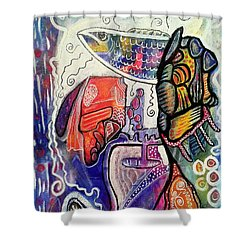 Rainbowtrout Shower Curtain by Mimulux patricia no No