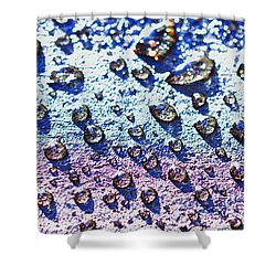 Raindrop Shingle Shower Curtain by Aliceann Carlton