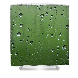 Raindrops  2 Shower Curtain