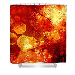 Shower Curtain featuring the digital art Raindrops And Bokeh Abstract by Fine Art By Andrew David