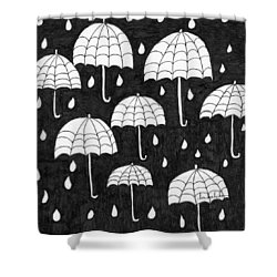 Raindrops Shower Curtain by Lou Belcher