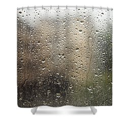 Raindrops On Window Shower Curtain by Brandon Tabiolo - Printscapes