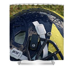 Raindrops On Wolverine Hellmet Shower Curtain