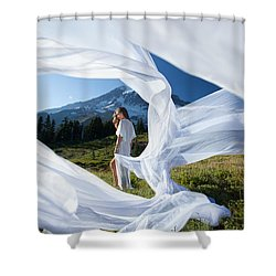 Shower Curtain featuring the photograph Rainier Ribbons by Dario Infini