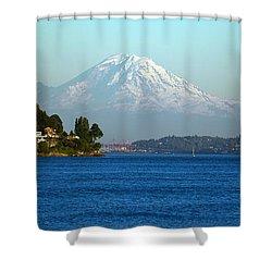 Rainier Vista Shower Curtain by Mike Reid