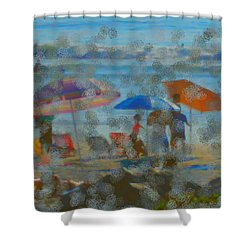 Raining Abstract Shower Curtain