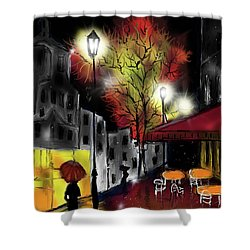 Shower Curtain featuring the digital art Raining And Color by Darren Cannell