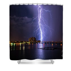 Raining Bolts Shower Curtain