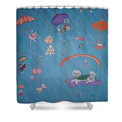 Raining Cats And Dogs Shower Curtain