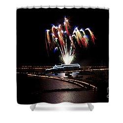 Shower Curtain featuring the photograph Raining Colour. by Gary Bridger