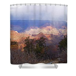 Raining In The Canyon Shower Curtain by Marna Edwards Flavell