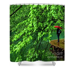 Raining Serenity - Plitvice Lakes National Park, Croatia Shower Curtain