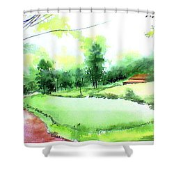 Rains In West Shower Curtain by Anil Nene