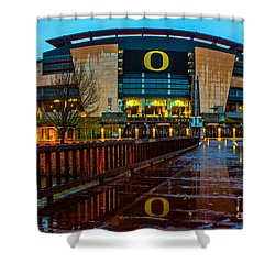 Rainy Autzen Stadium Shower Curtain
