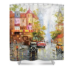 Rainy Day 3 Shower Curtain by Dmitry Spiros
