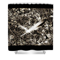 Rainy Day Geese Shower Curtain by Bill Cannon