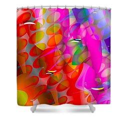 Shower Curtain featuring the digital art Rainy Day Girl by Robert Orinski