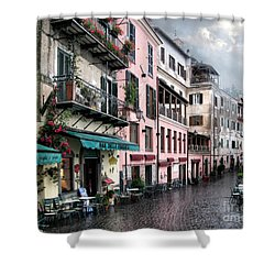 Rainy Day In Nemi. Italy Shower Curtain by Jennie Breeze