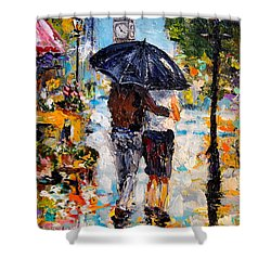 Rainy Day In Olde London Town Shower Curtain