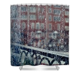 Shower Curtain featuring the photograph Rainy Day In Portsmouth by Richard Ortolano
