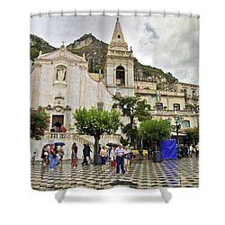 Rainy Day In Taormina 2 Shower Curtain by Madeline Ellis