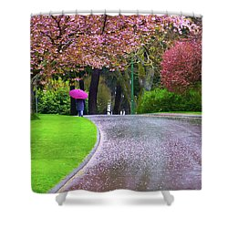 Rainy Day In The Park Shower Curtain