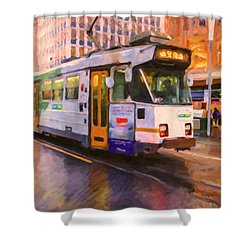 Rainy Day Melbourne Shower Curtain