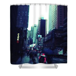 Rainy Day New York City Shower Curtain