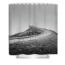 Shower Curtain featuring the photograph Rainy Day On Atlantic Road by Dmytro Korol