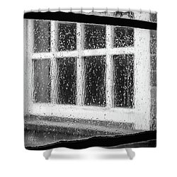Rainy Day Window Shower Curtain
