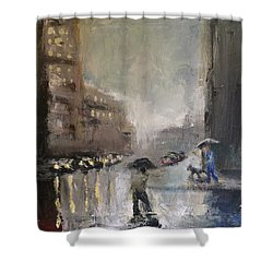 Rainy Days 2 Shower Curtain by Justin Lee Williams