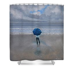Rainy Days And Mondays Shower Curtain by Paul Newcastle