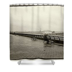 Rainy Days Sepia Shower Curtain