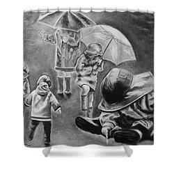 Rainy Daze Shower Curtain by Carla Carson