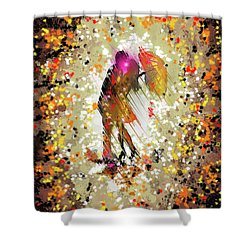 Shower Curtain featuring the digital art Rainy Love by Darren Cannell